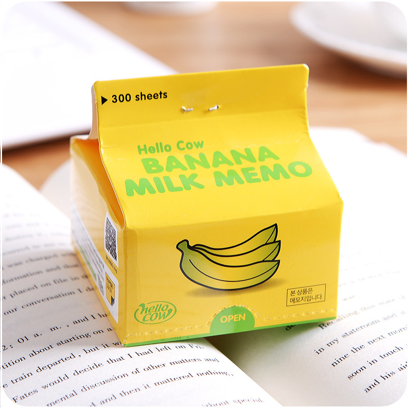 300 Sheets Milk Memo Pad Cute Post It Note Green Tea Coffee Note Pad Guest Page Design  Office Accessories School Supplies 150 page apple shaped memo pad