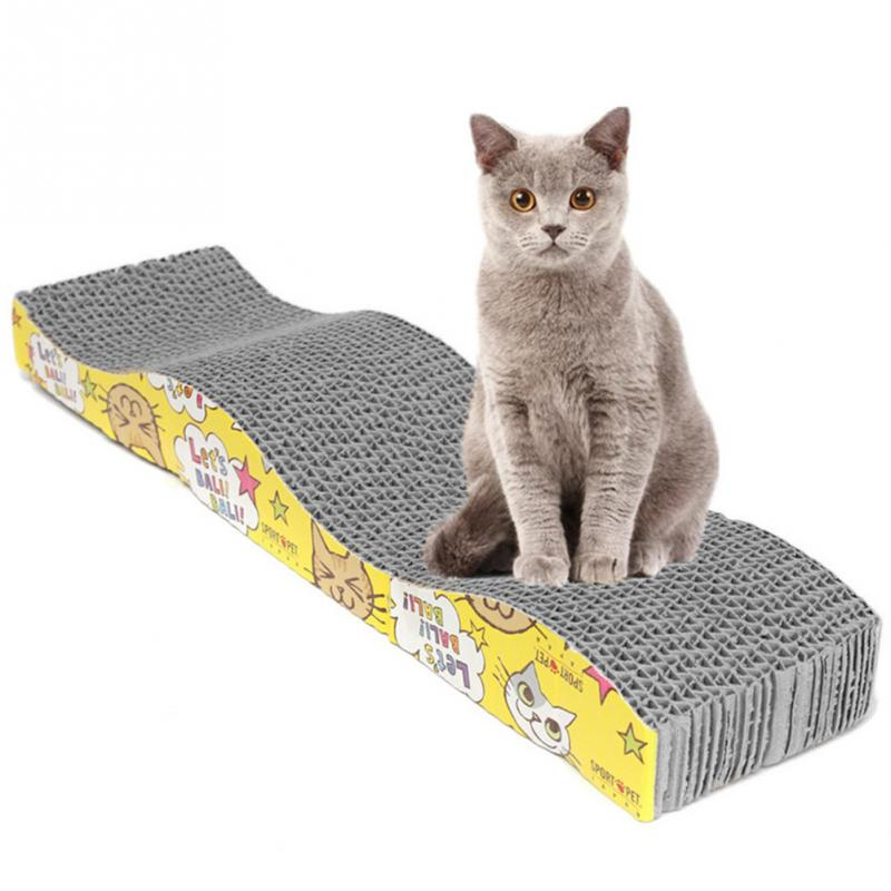 S-shaped Cat Kitten Corrugated Scratch Board Pad Scratcher Bed Mat Claws Care Juguetes Para Gatos Brinquedos