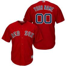 cdaa93df17a MLB Men s Boston Red Sox Baseball Gray Cool Base Custom Jersey(China)