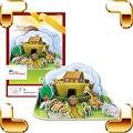 New Arrival presente arca de noé quebra-cabeças 3D modelo história da bíblia clássico pintura jogo de aprendizagem brinquedos educativos para crianças DIY modelo