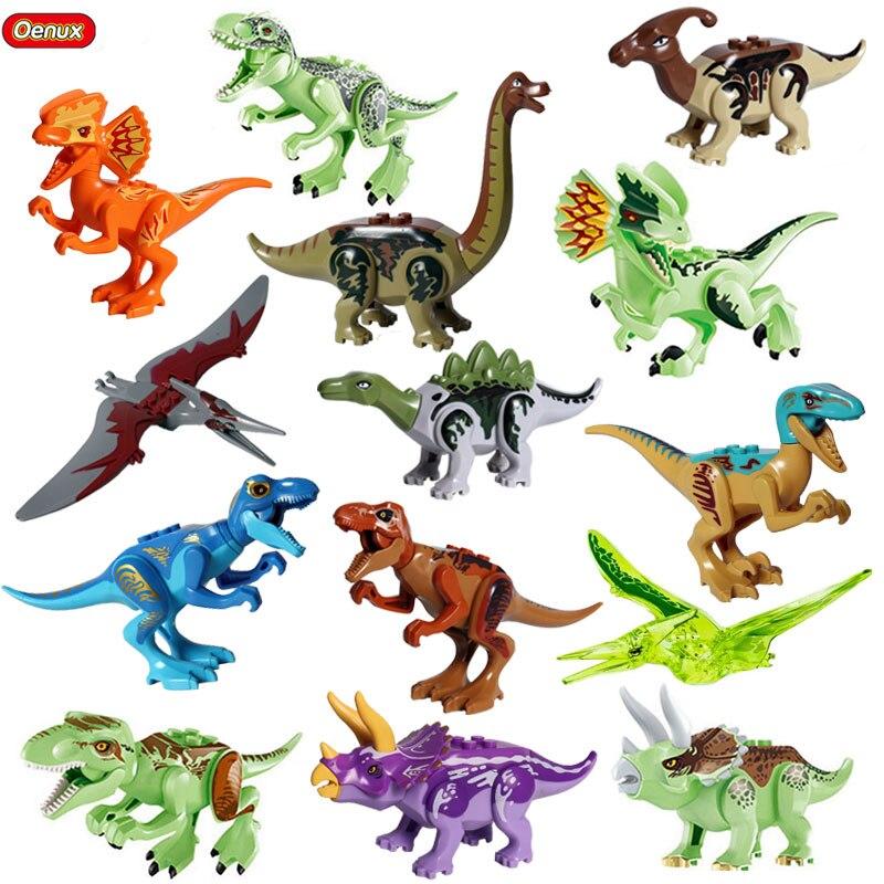 Oenux New Jurassic Dinosaur Buildable Model Indominus Rex Pterosauria Tyrannosaurus Dinosaurs World Building Block Brick Toy