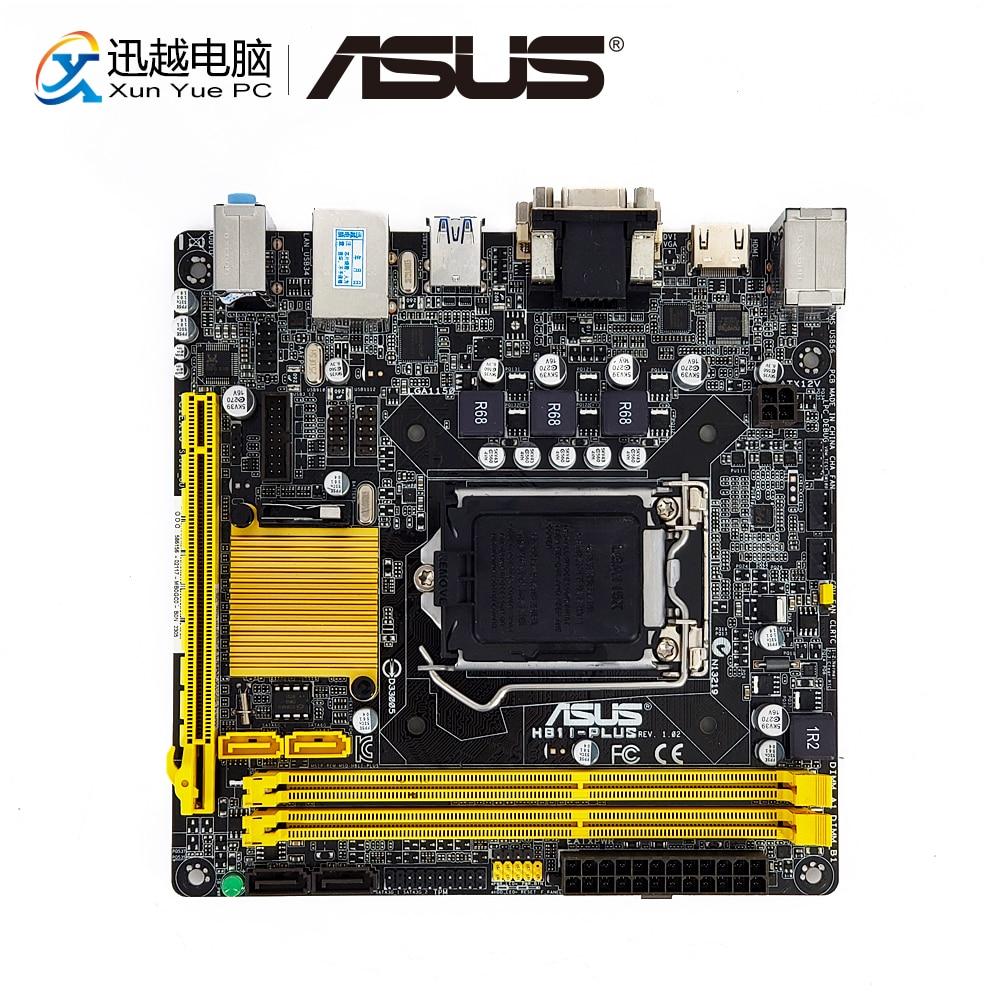 Asus H81I-PLUS Desktop Motherboard H81 Socket LGA 1150 i7 i5 i3 DDR3 16G SATA3 UBS3.0 VGA DVI HDMI Mini-ITX цены онлайн