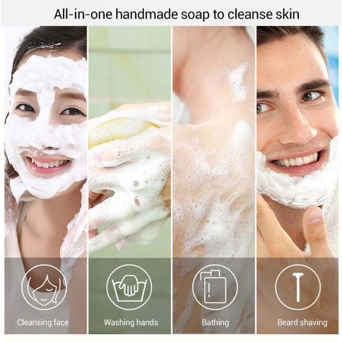 Handmade Soap - Whitening Moisturising Gold Foil Facial Skin Care - Deep Cleansing Anti-Wrinkle 30