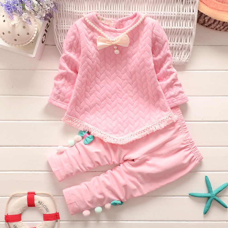BibiCola girls clothing sets casual style kids girls sweater+pants children spring autumn outfits sets baby sport suits costume