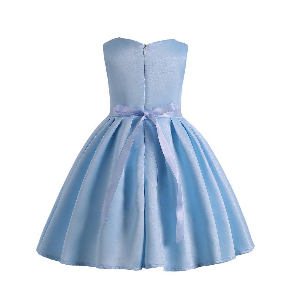 2018 summer Kids Girl Flower Dress Baby Girl embroidery Birthday ...