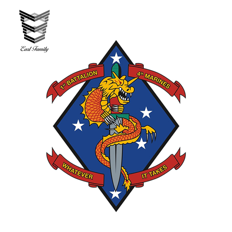 Marines 1st Recon BN Wall Window Vinyl Decal Sticker Military U.S