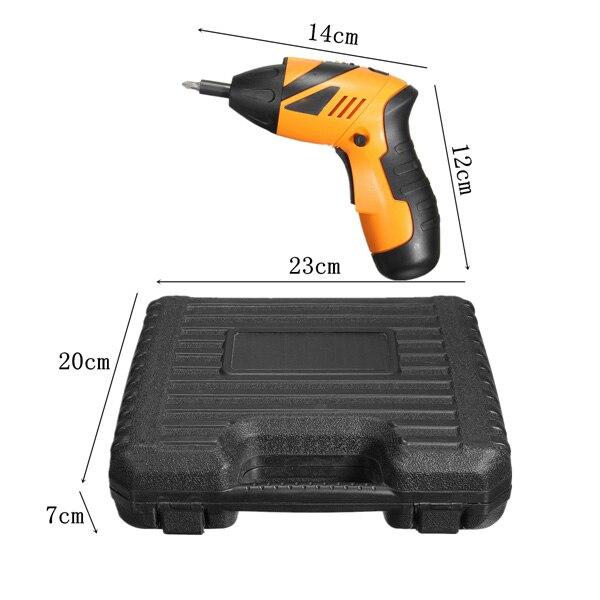 מזגנים רצפתיים בשנת 1 נטענות 45 אלחוטי Wireless מברגה חשמלית מקדחה כלי Power Kit (4)