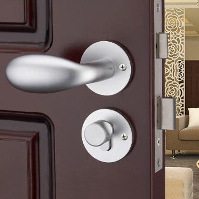 Zenhosit Simple Mechanical Split Interior Black Door Handle Lock Mute Bearing Bedroom Kitchen Handlesets For Home