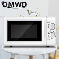 DMWD Household Microwave Oven Mini multifunctional Mechanical Timer Control Microwave Oven 20L 700W with 30 minutes timer EU US