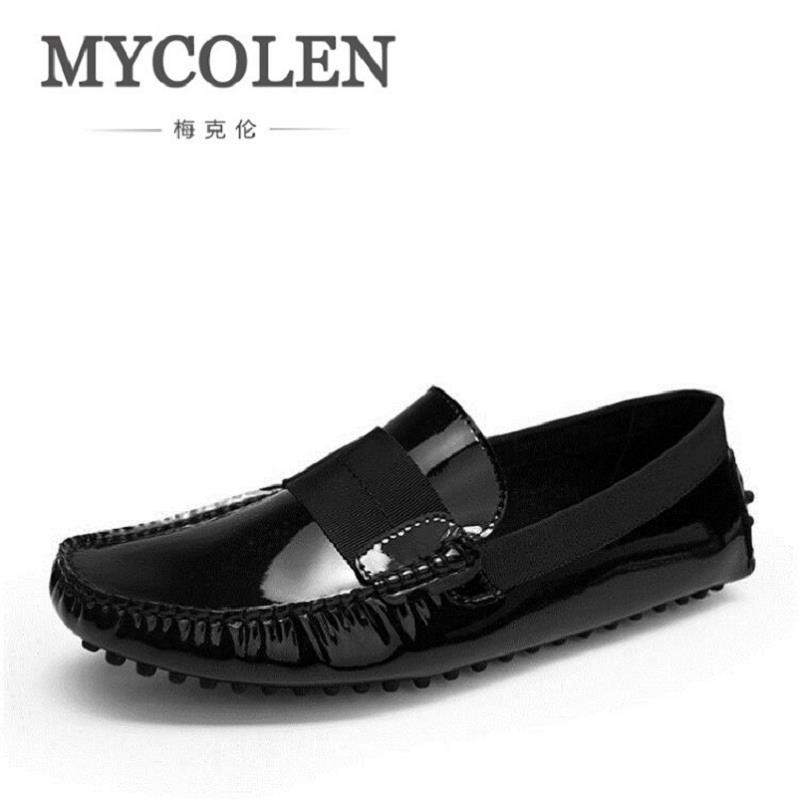 MYCOLEN Brand Luxury Fashion Men Loafers Men Driving Shoes Slip On Leather Men Moccasin Breathable Shoes Summer sapatenis men new 2017 men s genuine leather casual shoes korean fashion style breathable male shoes men spring autumn slip on low top loafers