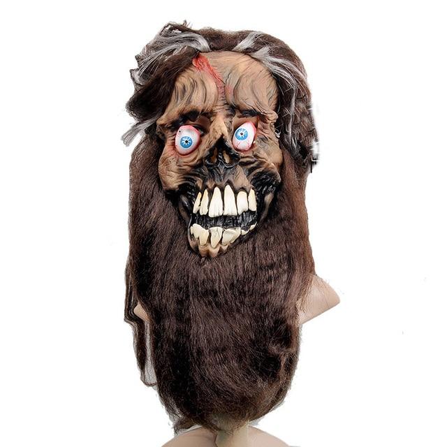 Scary Long Beard Hair Latex Ghost Mask Masquerade Halloween Cosplay Adult Full Face Costume Fancy Dress  sc 1 st  AliExpress.com & Scary Long Beard Hair Latex Ghost Mask Masquerade Halloween Cosplay ...