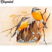 Dispaint Full Square/Round Drill 5D DIY Diamond Painting Animal bird scenery 3D Embroidery Cross Stitch Home Decor Gift A12312 dispaint full square round drill 5d diy diamond painting teacup bird scenery 3d embroidery cross stitch 5d home decor a18408