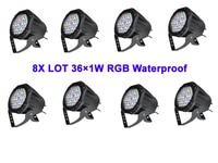 8X LOT Freeshipping NEW 36leds*1W RGB 3in1 Full Color LED Par Light,LED Par64 Light,PAR can for concert show,TV Studio,club