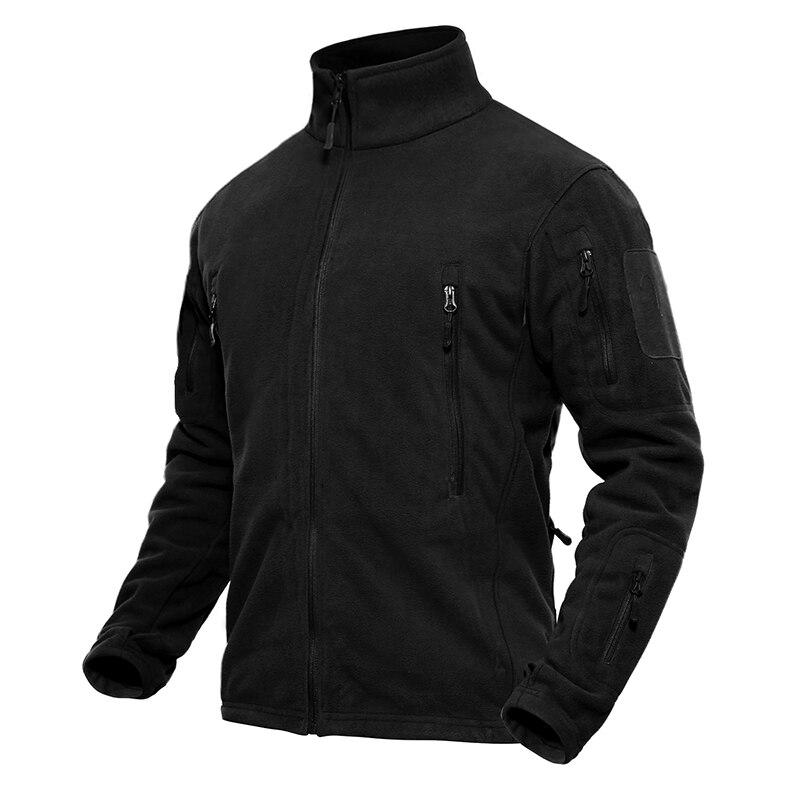 TACVASEN Men Winter Fleece Jacket Military Tactical Jacket Coat Men's Thermal Jacket Autumn Casual Clothing Fleece Coats