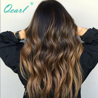 1B/30/27# Highlights Color Glueless Full Lace Human Hair Wigs 150% with Baby Hair Pre Plucked Hairline Full lace Wig remy Qearl