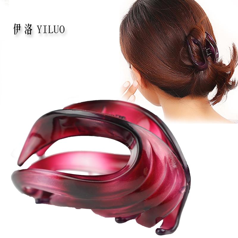 Women   headwear   2017 retro hair claw cute hair clip for girls show room vitnage hair accessories for women