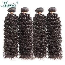 """ILARIA волосы норки бразильские афро кудрявые вьющиеся волосы 4 пучка s 1""""-30"""" класс 8A необработанные бразильские девственные человеческие волосы переплетения пучок"""
