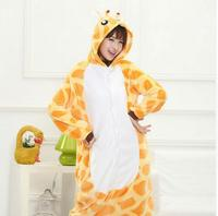 Cute Giraffe Onesie Jumpsuit Homewear Costume Unisex Kigurumis Pajamas Animal Sleepwear