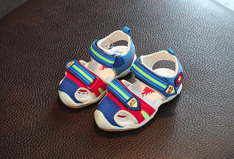 Summer Kids Shoes Baby Fashion Boys Sneaker Patchwork Children Light Luminous Casual Childrens Flat Shoes Girls Shoes 20