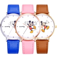 Cute Cartoon Patterns Kids Watch High Quality Waterproof Girl Watches Leather Strap Ultrathin Student Quartz Wristwatch