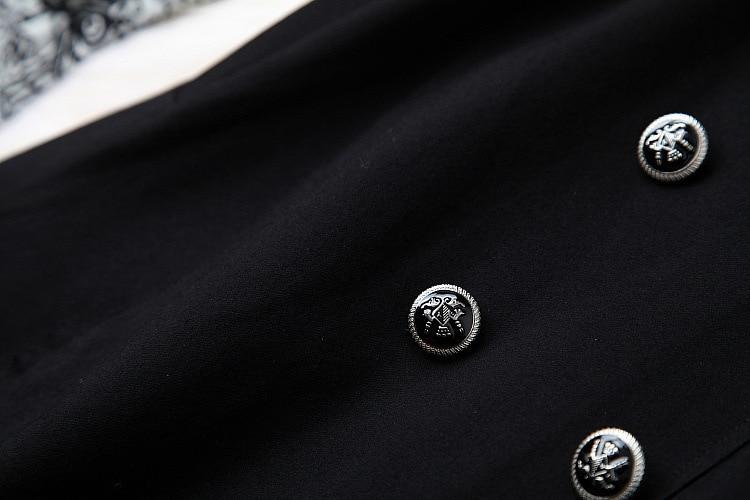 Offre doublé Picture 2019 Arc À Nouveau Piece Robe Patchwork Longues Noir Manches Bretelles Cravate Faux Un Robes Printemps Deux Imprimé Spéciale Élégantes xSUCwqFA