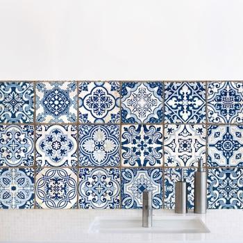 Wc cucina decorazione simulazione Blu e bianco in ceramica fai da te ...
