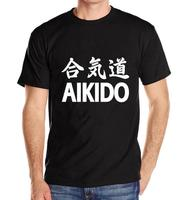 New Arrival Men S Clothing Streetwear Style T Shirt Men AIKIDO Letter Print CottonTee Shirt Plus