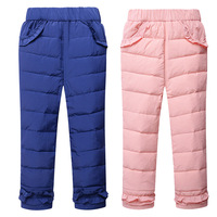 2017 New Arrine Winter Children S Down Trousers Girls Pants White Duck Down Pants Winter Thick