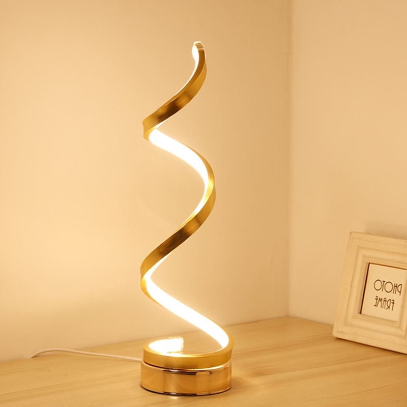 Creative Art Decoration Acrylic Spiral Table Light LED Table Lamp Bedroom Bedside Lamp Lighting Fixture Nachttischlampe modern led table light creative design spiral acrylic art table lamps for bedroom bedside lamp decoration lighting fixture