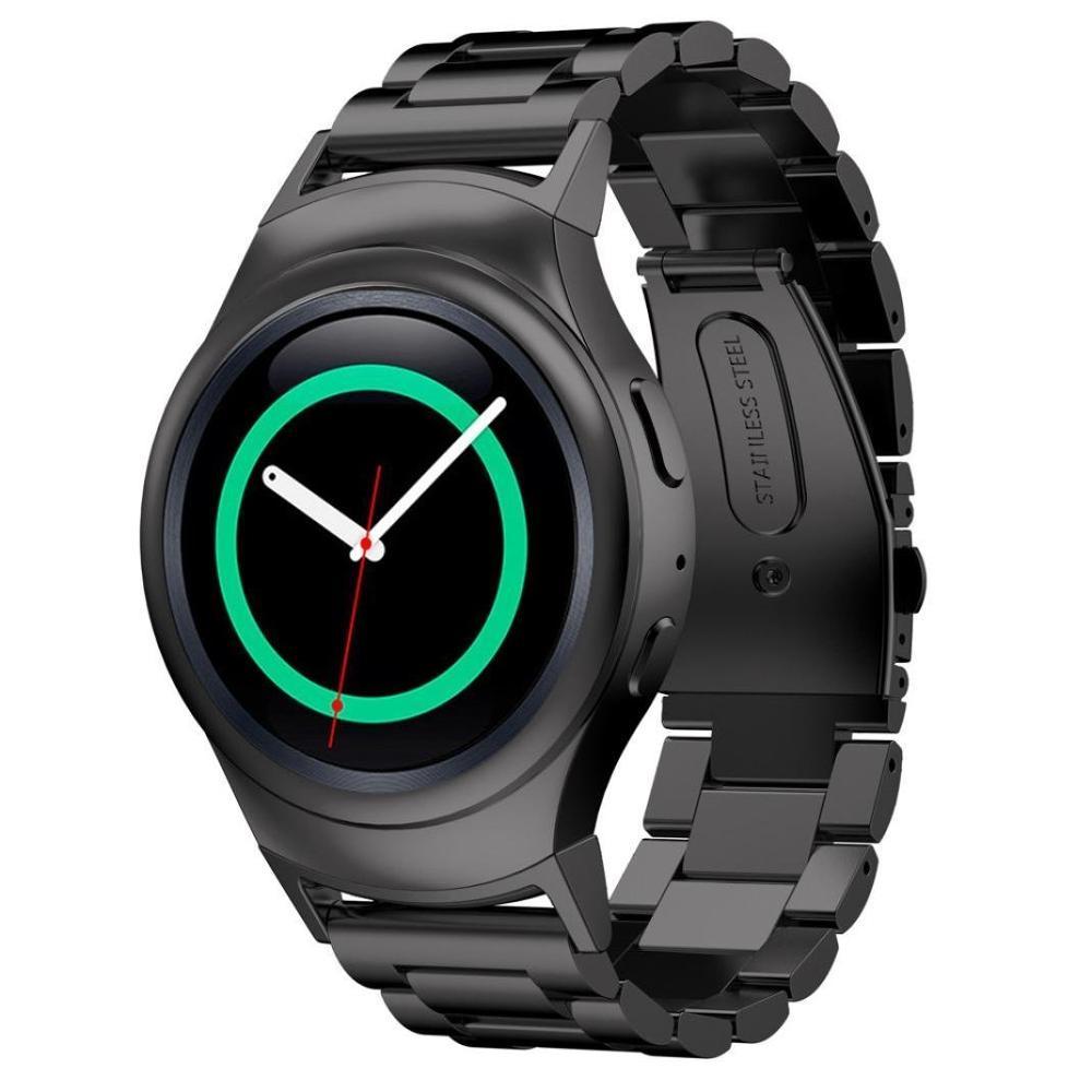 Kartice ruostumaton teräs kellonauha + metalliliitin Galaxy Gear S2 RM-720 Smart Watch