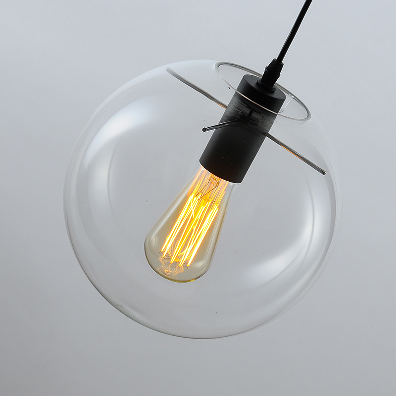 Vintage Industrial Edison Pendant Ceiling Lamp Clear Ball Glass Droplight vintage industrial edison pendant ceiling lamp clear ball glass droplight