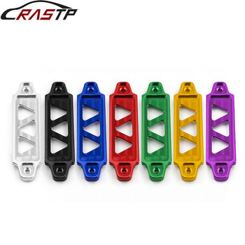 RASTP-Car Racing Battery Tie Down Hold Bracket Lock Anodized for Honda Civic/CRX 88-00 Car Accessory with Logo RS-BTD003 image