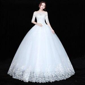Image 2 - 2020 ใหม่ขายส่งครึ่งแขนปิดไหล่ชุดแต่งงานราคาถูก Ball ชุดเจ้าสาวชุดจีน Vestido De noiva