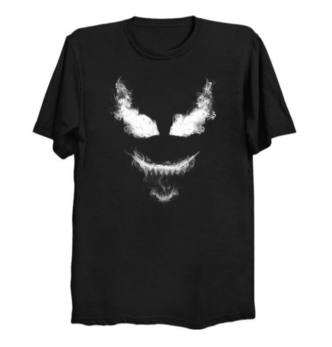 Venom t-shirt Spider man Skull men t shirt cotton Tees Tops