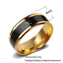 Smart Bracelet Ring Intelligent Temperature Waterproof Color Changing Sensitive Diameter Yard 6 to 13 Gift