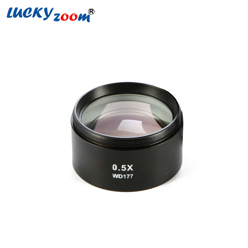 ФОТО Lucky Zoom Brand SZM-0.5X AUXILIARY OBJECTIVE LENS FOR STEREO ZOOM MICROSCOPE WD 177mm Microscope Accessories Free Shipping
