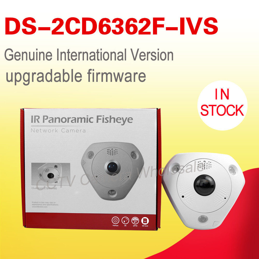 DS-2CD6362F-IVS  English version 6MP Network CCTV Fisheye ip security camera, 360 view angle  Alarm  IP66 cctv Camera cd диск fleetwood mac rumours 2 cd