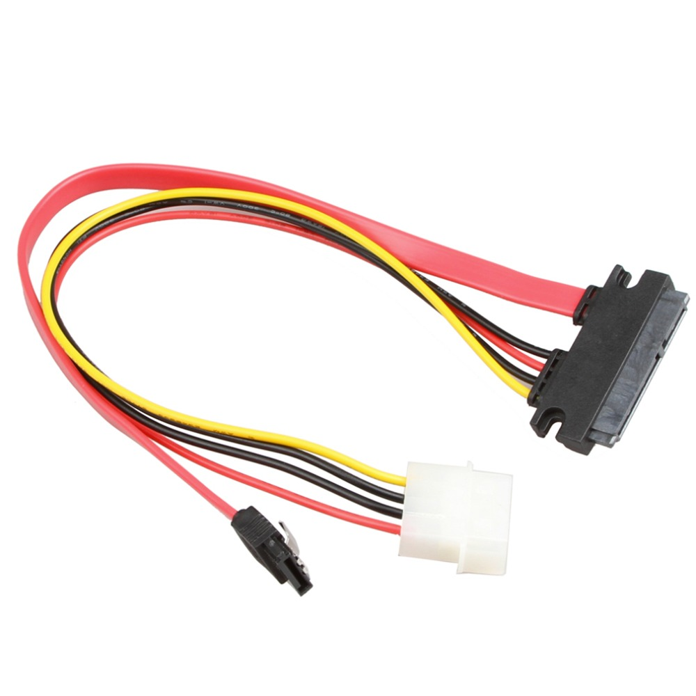 NEW Sata 7+15p To Sata 7p M+IDE 4P Hard Disk Power Data Cable 31CM 26AWG High Speed Up To 300 MB/Seconds In stock!