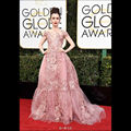 Lily collins globo de ouro 2017 red carpet celebrity dresses