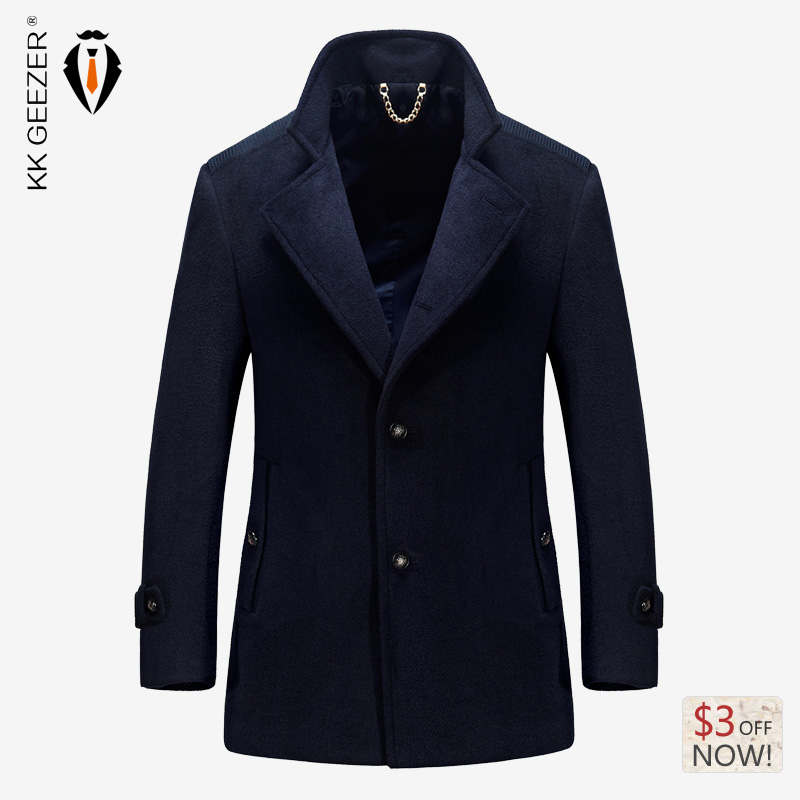 office coat. 2016 autumn winter keep warm trench coat men tops brand high quality wool fabric fashion business office plus size m4xl