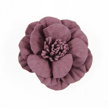 Yundfly 5pcs Fashion Solid Artifical Flower for DIY Baby Girls Headband Children Hair Accessories Home Decor