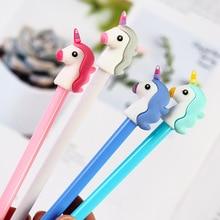 цена 36 pcs/Lot Color Unicorn gel pens 0.5mm roller ball Black ink pen writing gift Stationery Office school supplies Canetas A6152 онлайн в 2017 году