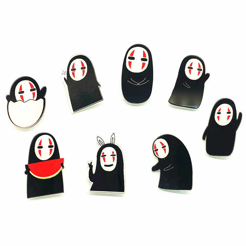 1Pcs Cute Cartoon Anime No Face Man Acrylic Brooch Kawaii Badges Backpack Clothes Women Decoration Icon Brooches Pin Kids Gift