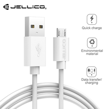 Jellico Micro USB Cable Fast Charging Wire Data Micro USB Cable for Xiaomi Samsung Android Microusb Charger Cord Phone Cable digital lcd display micro usb data charging voltage current cable cord for android phone