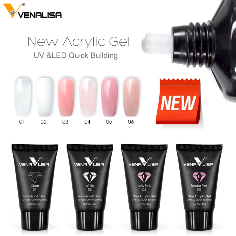 Venalisa Real Poly Gel High Quality Acrylic Builder Gel Primer Slice Brush Nail Tool Extension Dropshipping Liquid Acrylic Gel