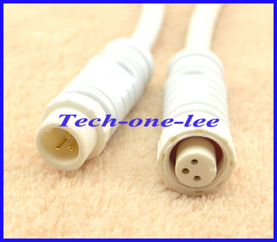 10sets/lot LED strip M12 3Pin Plug Jack Cable Light Waterproof Connector Male Female Adapter - onelinkmore AntennaMan Store store
