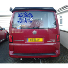 free shipping 1PC beatiful car sticker text peace and love best wishes decal