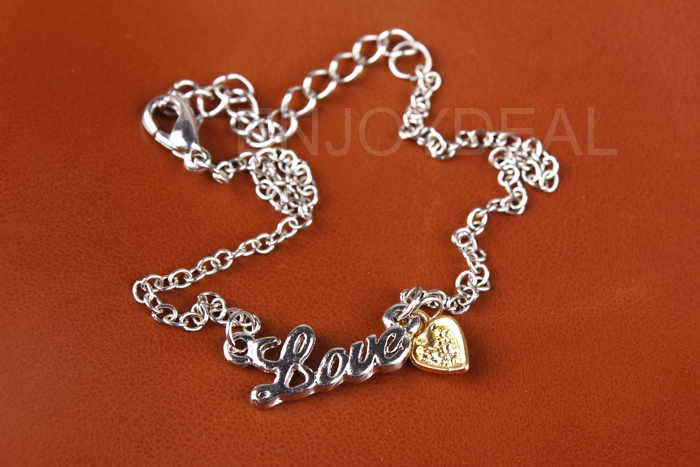 New LOVE Letter Jewelry Heart-shaped Pendant Anklet Foot Chain Bracelet