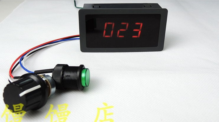 Freeshipping CCM5D digital display dc motor speed PWM speed switch 6 v 12v 24v panlongic hand twist grip hall throttle 100a 5000w reversible pwm dc motor speed controller 12v 24v 36v 48v soft start brake