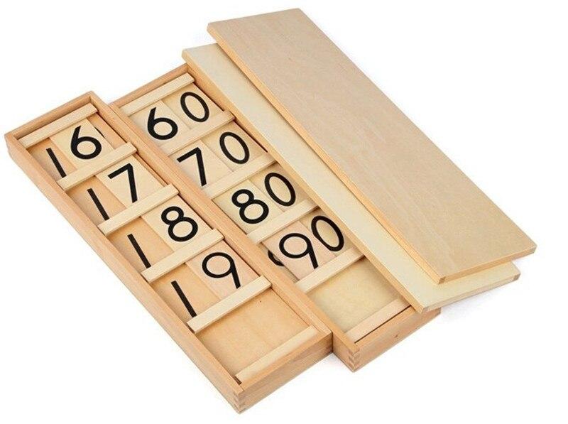 Nouveau jouet en bois pour bébé Montessori adolescents et dizaines planches jouets en bois éducation de la petite enfance formation préscolaire bébé jouet bébé cadeau
